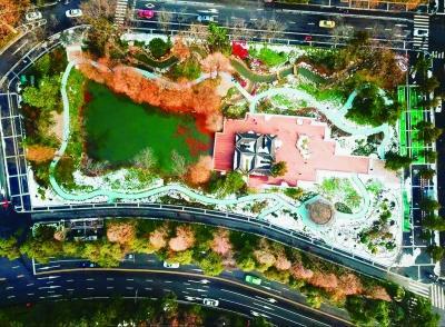 和平公园西园景观湖是一个约1000平方米的长方形湖体,因为一直以来都
