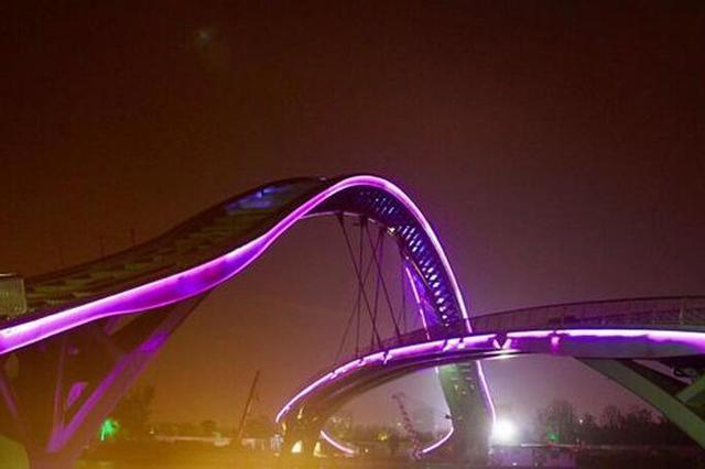 苏州宝带桥澹台湖景区景观桥试灯 工程年底竣工