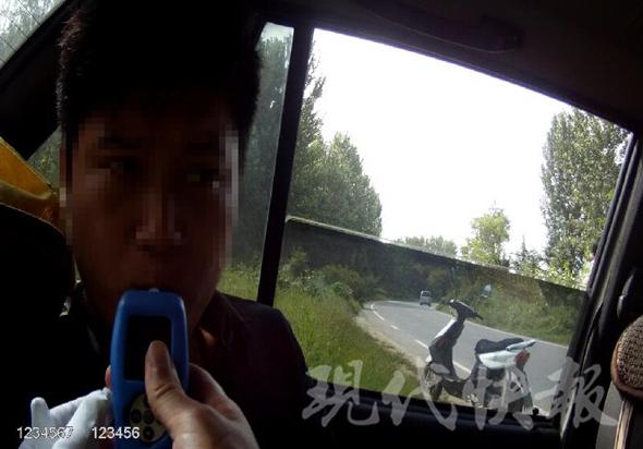 徐州一新司机还在实习期就酒驾 假证将被注销