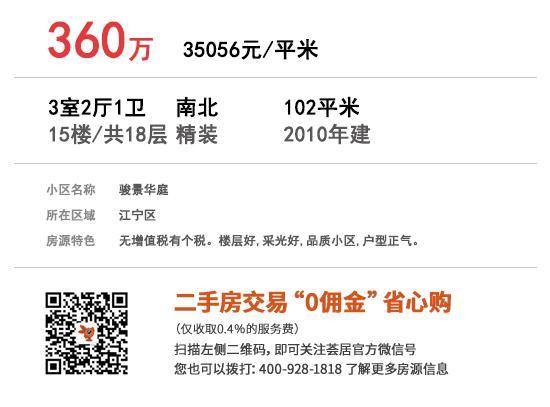 骏景华庭 102㎡ 360万