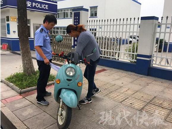 偷电瓶车的周某-电动车被盗车主还没报警 民警就已上门还车