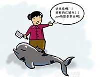 渔妇海边宰杀江豚