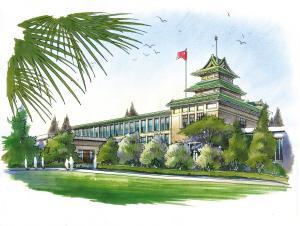 南京一90后小伙手绘校园 只为留下 独家记忆图片