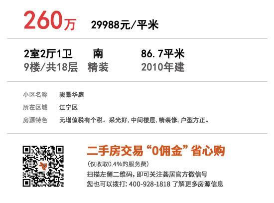 骏景华庭 86.7㎡ 260万