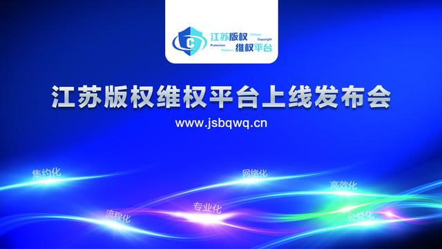 为维护著作权人合法权益 江苏正式上线版权维权平台