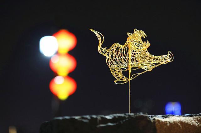 南京中华门城堡上看南京夜色别样美