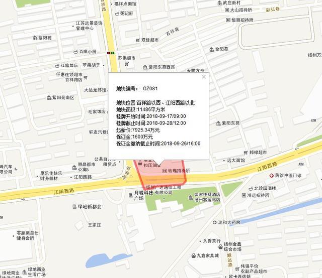 12幅土地将于下月拍卖 扬州商业迎发展新机遇