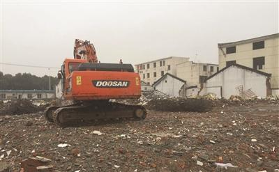 轻轨3号线拆迁顺利 扬清路39号区域厂房拆除