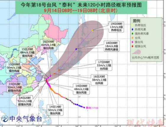 """台风""""泰利""""到底对江苏啥影响 权威发布来啦"""