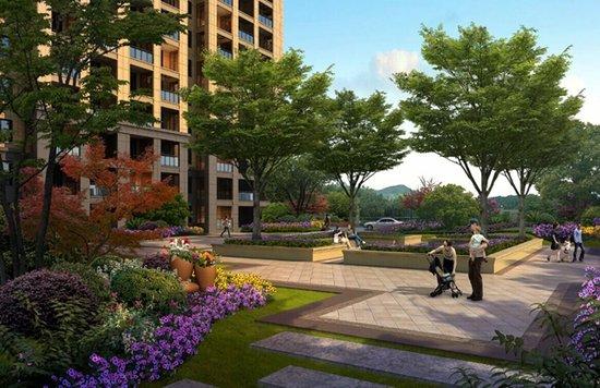 尚东名邸缔造欧式浪漫园林 五重景观四季演绎图片