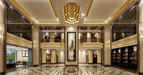 万豪广场9米挑高大堂豪装呈现,鉴证精工品质