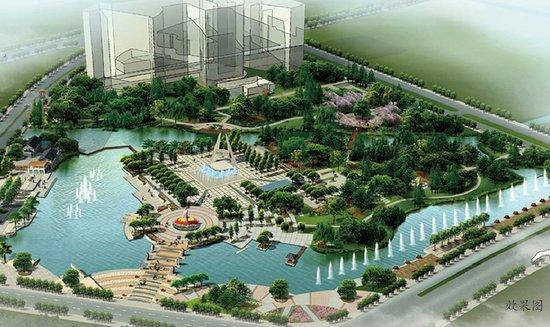 秀洲新天地摒弃传统商业模式,借景西侧134亩水景公园(秀清休闲广场)