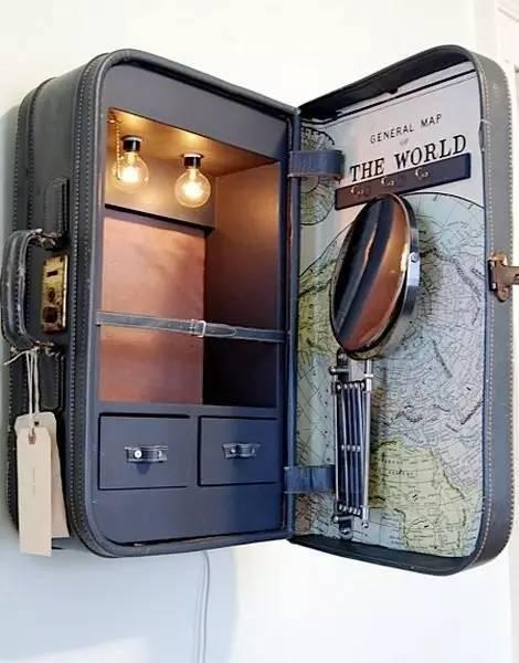 旧行李箱变身精致家具 旧物打造复古小家