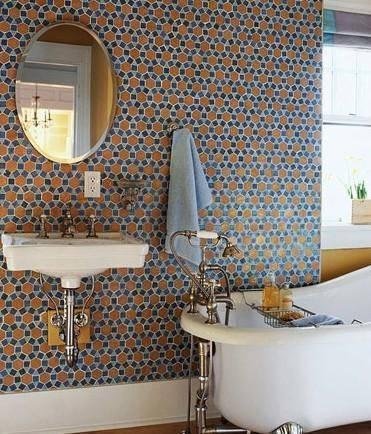 温暖卫浴装修 色彩图案元素提升浴室温暖度