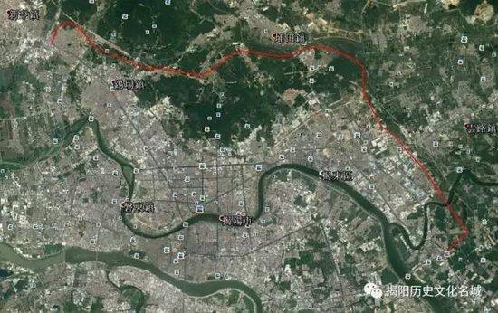之后经蟠厝洋,蟠龙村,下底村,在k20 677处跨过枫江河进入空港经济区图片