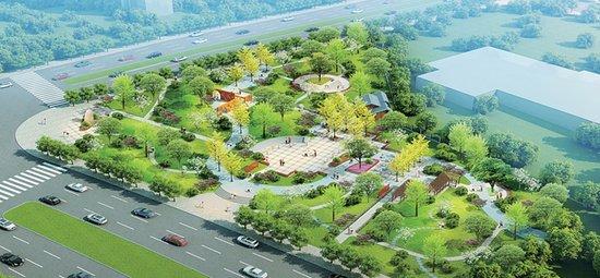 街头公园设计平面图