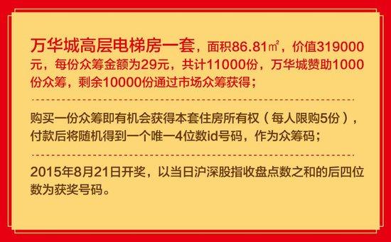 """万华城""""29元抢两房""""众筹活动开启"""