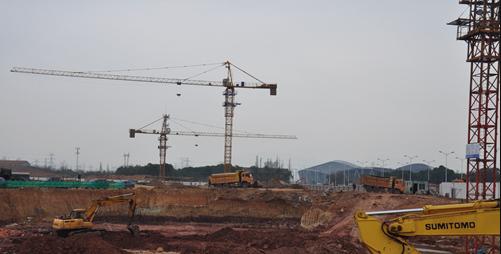 保集海塘府工程最新动态:处于打地基阶段