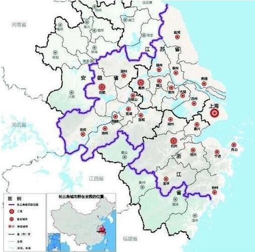 上海区域手绘地图