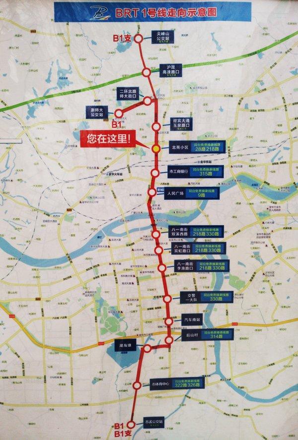 金华BRT1号线 吃喝玩乐住全攻略 房产频道 金图片