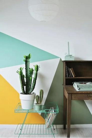 新盘 优惠 评盘 团购 看图说房 社区 资讯  几何元素可以作为墙面家居图片