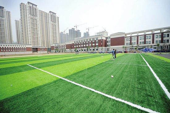 人工草皮足球场 落户济南西客站片区
