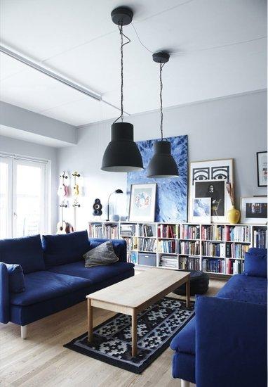 哥本哈根:四口之家的蓝色空间