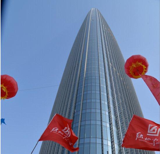 300米济南第一高楼绿地中心金日盛大交付