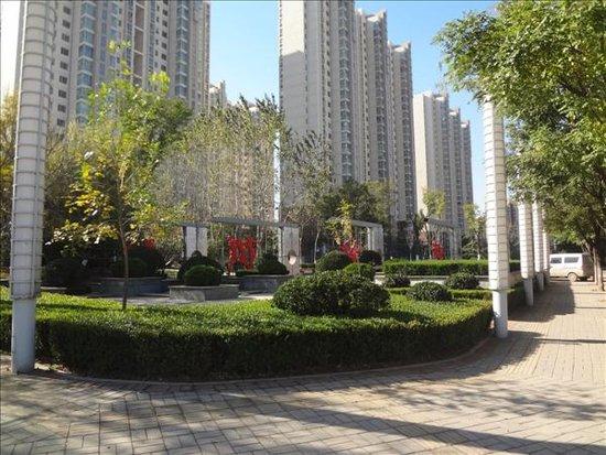领秀城中央花园实景图