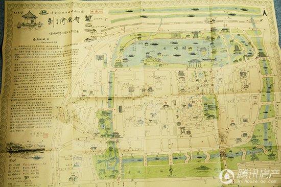 对话:济南首幅手绘地图制作者杨宝生