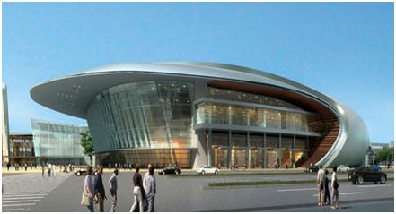 西客站片区会展中心效果图-西城一宗地底价成交 济南最大会展中心开