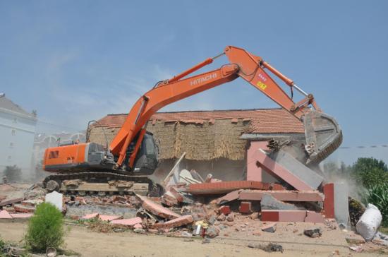 最大单体违建被拆除图片