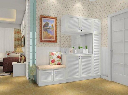 进门靠墙鞋柜效果图片