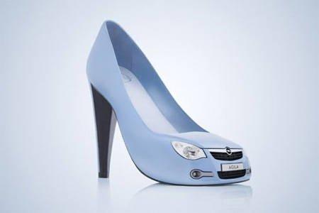 这款蓝色仿欧宝aglia汽车高跟鞋可谓是创意十足,汽车的零件高清图片