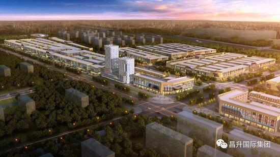 市、区领导视察开封昌升国际商贸城建设情况