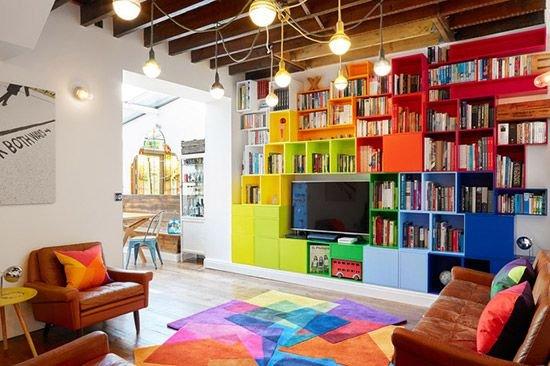 古灵精怪的四口之家 用色彩编织快乐