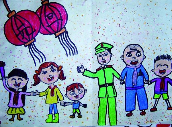 儿童画 600_443图片
