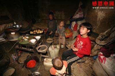 儿童生活困苦_贫困孩子的苦难生活组图
