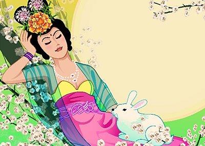 中秋节的美丽传说之——玉兔捣药