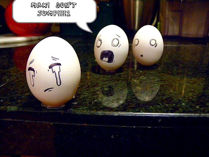 组图:鸡蛋上画出的创意生活