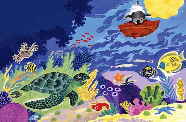 上帝保佑鱼儿和爬行动物,在静静的海床,在深深的海洋.