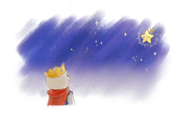 心里和星星上的剪纸公主,仍和过去一样,说话和唱歌一样动听