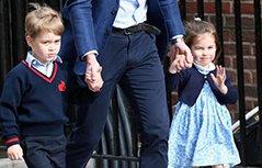 组图:凯特王妃生三胎 威廉王子一人带俩娃亮相