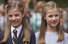 组图:西班牙王室庆祝小公主首次圣餐礼 姐妹花美炸了