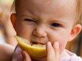 组图:宝宝吃柠檬时的搞笑表情