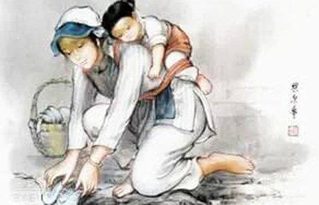 13岁少年杨铅坤:帮父母摆摊擦鞋 给母亲按摩病足