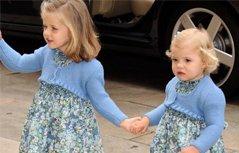 组图:西班牙公主姐妹花,从小美到大,欧洲最时尚的小公主