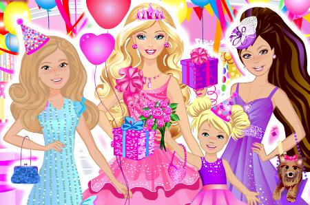 芭比举办生日派对