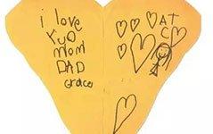 组图:6岁女儿去世后留下的小纸条