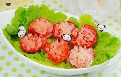 美味漂亮的开胃菜萝卜开花
